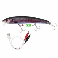 Prostaff Recommended Intelligent Lure Twitching Lures Rechargeable Led Minnow Bass Fishing Lure Day And Night Jerkbait