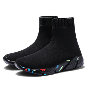 MWY Breathable Ankle Boot Women Socks Shoes Female Sneakers Casual Elasticity Wedge Platform Shoes zapatillas Mujer Soft Sole 9