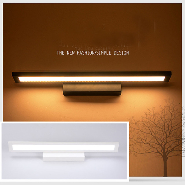 GLW Indoor Bedroom LED Mount Wall Light Fixture Square Vanity Light ...