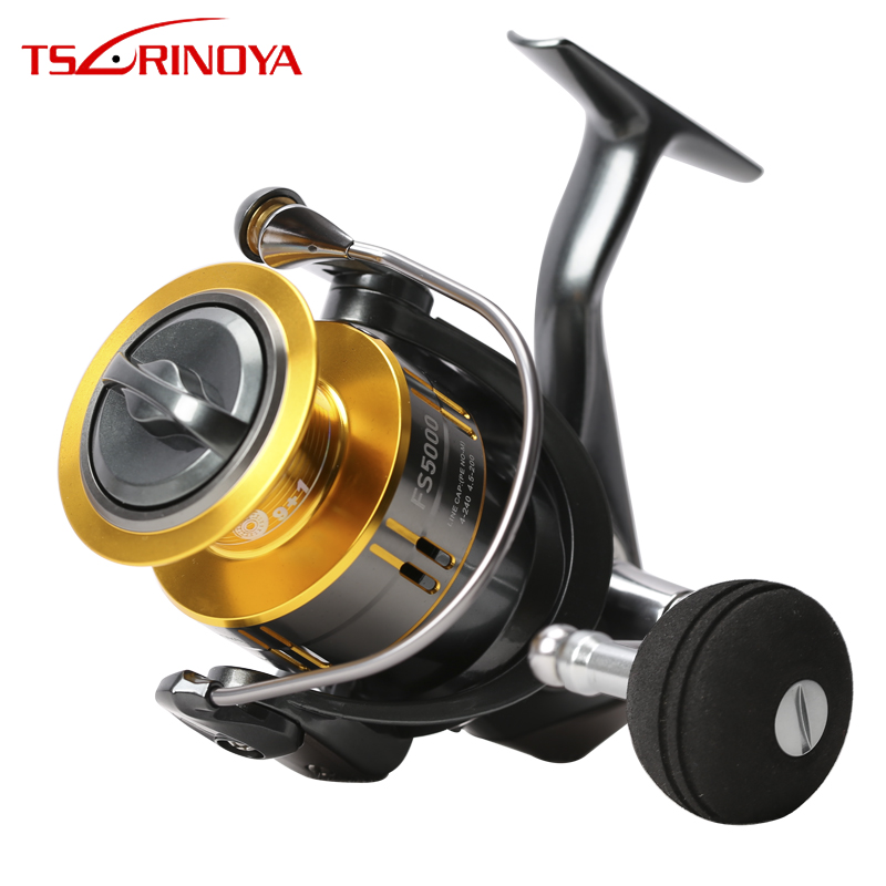 TSURINOYA FS4000 FS5000 Spinning Reel 9+1BB 5.2:1 Metal Spool Lure Reel Rock Fishing Wheel Molinete Peche Para Pesca Carp Coil