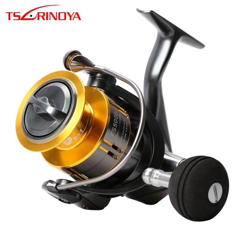 TSURINOYA FS4000 FS5000 Spinning Reel 9 1BB 5 2 1 Metal Spool Lure Reel Rock Fishing