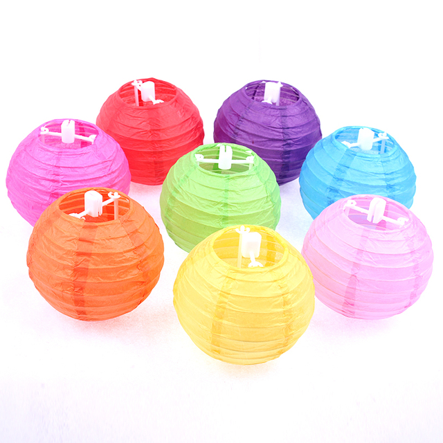 Zilue 20pcs Lot 4inch 10cm Anese Mini Rice Paper Lamp Lantern Ball Hanging Baby Showers Wedding Lampion Party Decorations