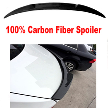 Universal spoiler For BMW E93 M1 M3 M4 Carbon Fiber Style 3 Series Rear Spoiler Wing 2 clip-doors modes