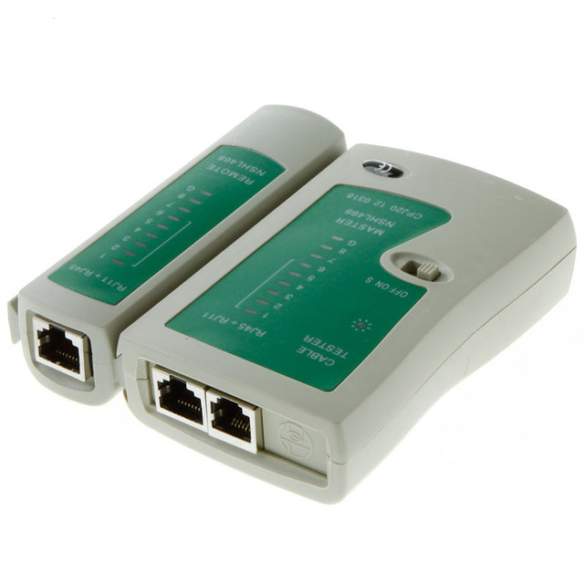 Professional Network Cable Tester RJ45 RJ11 RJ12 CAT5 UTP LAN Cable Tester Networking Tool Wholesale Retail