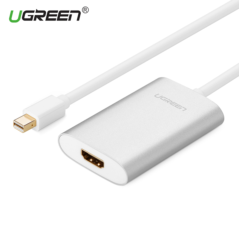 Ugreen Thunderbolt 1/2 Mini DisplayPort DP To HDMI Adapter 4K Mini DP male to HDMI female Cable for Apple MacBook Air Pro iMac vention thunderbolt hdmi vga 4k 2 in 1 mini displayport to hdmi vga adapter cable for apple macbook pro imac mac hdtv projector