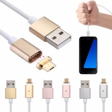 New Fashion Micro USB 2.0 Data Lightning Magnetic Adapter Charger Cable Connector For Android Smartphone Samsung HTC 1PC