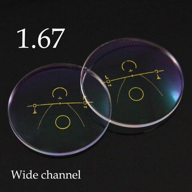 Ультра Тонкий 1.67 Внутри Прогрессивные Линзы Оптические Очки Широкий Коридор Мультифокальные Линзы Очки Вождения Очки Для Чтения