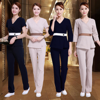 New style hospital Work Wear Uniforms clothes Beautician overalls beauty salon work clothes nurse uniform pharmacy work clothes