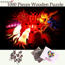 MOMEMO All Lovely Tailed Beasts 1000 Pieces Wooden Puzzle Jigsaw Puzzles Toys Naruto Anime for Adults Teenagers Kids