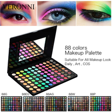 88 colors makeup eye shadow palette shimmer Matte Luminous Glitter tool Kit Set Box with Mirror