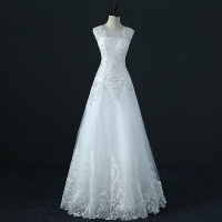 YIDINGZS Tulle Crystal Wedding Dress A Line Vestido De Novia Pearls Bridal Dresses Robe De Marriage Wedding Gowns