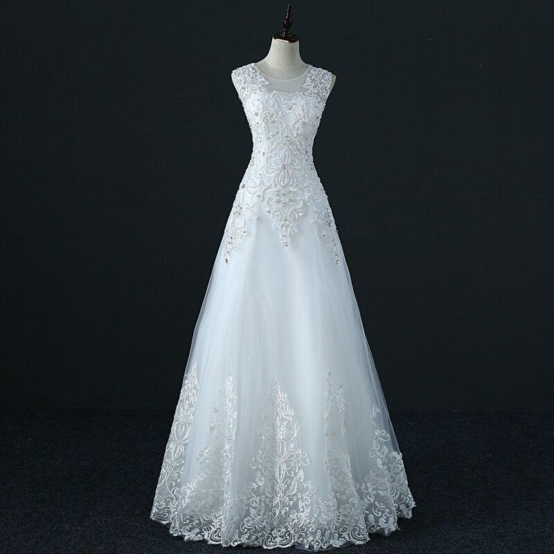 YIDINGZS Tulle Crystal Wedding Dress A Line Vestido De Novia Pearls Bridal Dresses Robe De Marriage Wedding Gowns