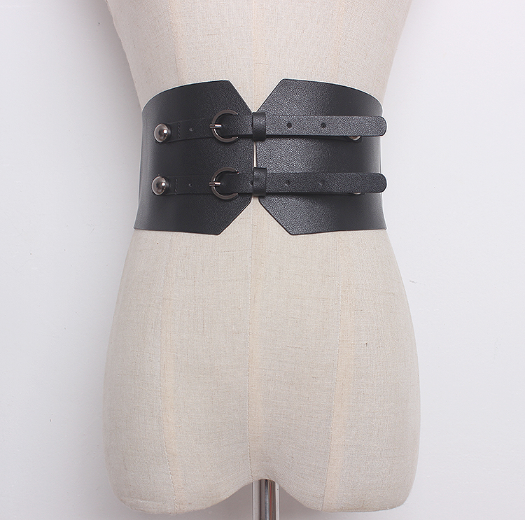 Women's Runway Fashion Solid PU Leather Cummerbunds Female Dress Corsets Waistband Belts Decoration Wide Belt R1357