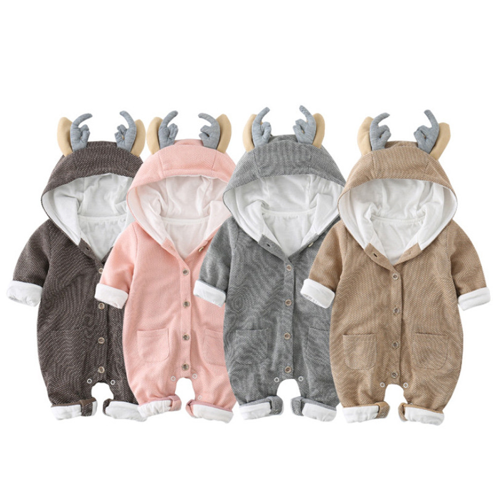 Toddler Newborn Baby Cute Boy Girl Long Sleeve Tops Jumpsuit Clothes  Clothes Hooded Boys Girls Rompers Cute Fashion Best Gift newborn infant baby boy girl clothing cute hooded clothes romper long sleeve striped jumpsuit baby boys outfit