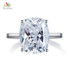 Павлин звезда Твердые 925 пробы серебро 6 карат обручальное юбилей пасьянс кольцо Роскошные ювелирные изделия CFR8286