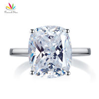 Peacock Star Solid 925 Sterling Silver 6 Carat Wedding Anniversary Solitaire Ring Luxury Jewelry CFR8286