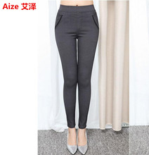 2017 Spring Autumn New Women Trousers Slim Plus Size Stretch Sexy Leggings Fashion Elastic High Office Casual Pencil Pants XXXXL