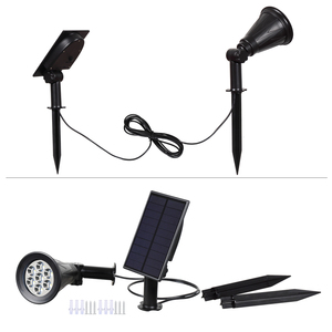 Image 3 - T SUNRISE 7 LED Solar Spotlight With Solar Panel Auto Color Changing Outdoor Lighting Solar Powered Lamp Wall Light