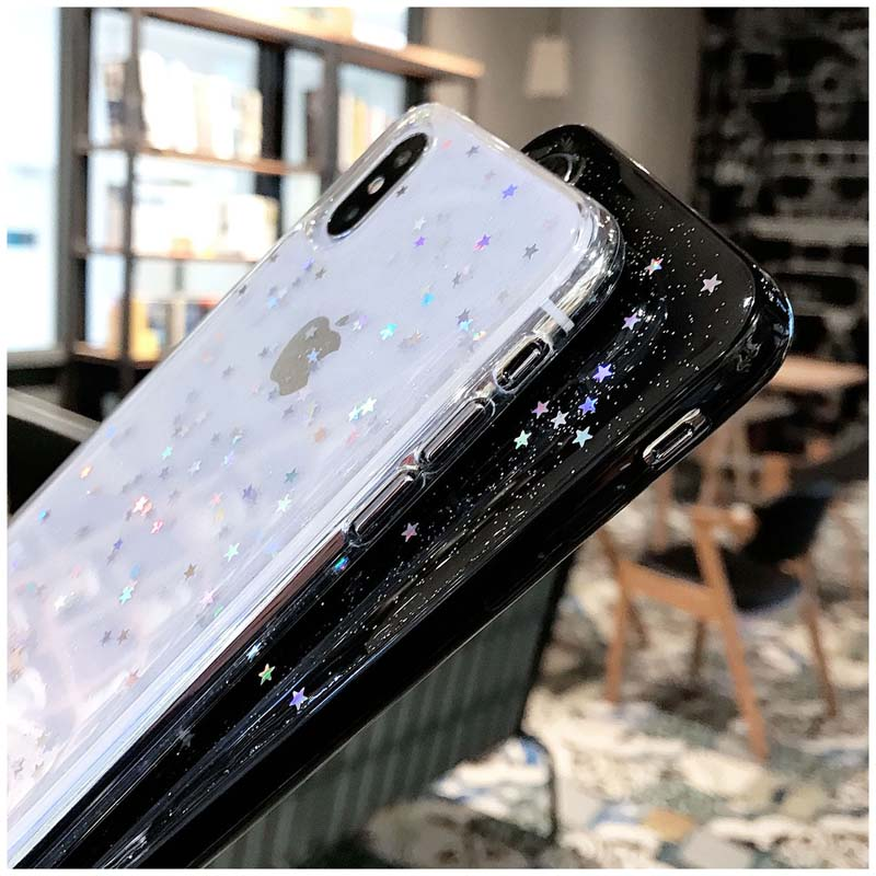 HTB1ntK1M3HqK1RjSZFPq6AwapXah - Lovebay Bling Star Glitter Soft TPU Phone Cases For iphone 11 Pro XS Max XR X 8 7 6 6S Plus 5S SE Powder Transparent Cover