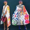 Новый 2017 Мода Осень Женщины Печатные Плащ Плащ Длинный Пиджаки И Куртки Случайный Harajuku Отпечатано Партии Клуба Blazer Feminino