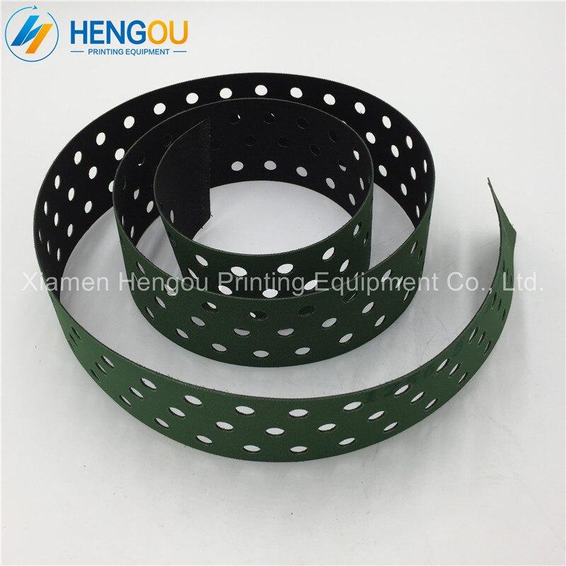 цена на 1 piece free shipping Heidelberg printing machine spare part M2.020.018 SM74 Narrow-3H0le feeder delivery belt