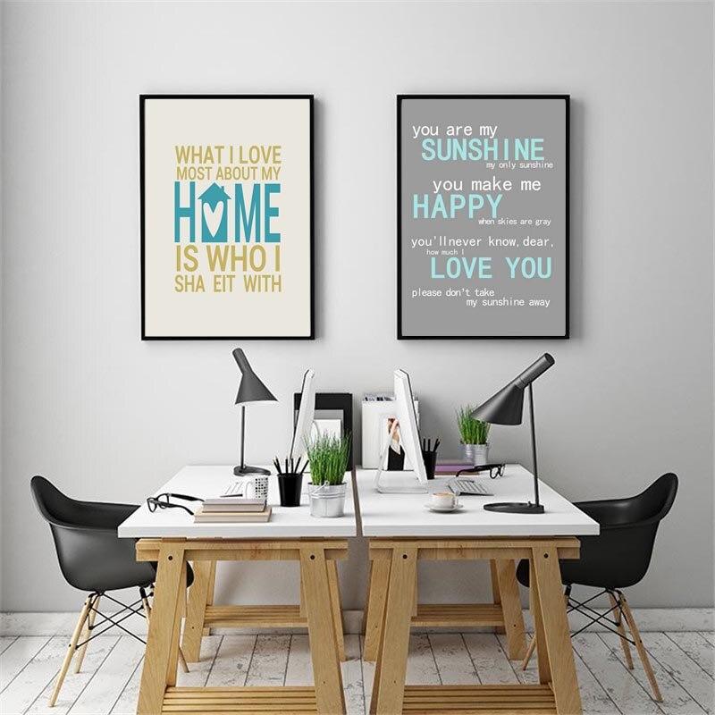 Us 4 89 40 Di Sconto Nordic Minimalis Tipografia Stampa Sweet Home Positivo Vita Citazioni Di Arte Della Tela Di Canapa Pittura A Parete Immagine