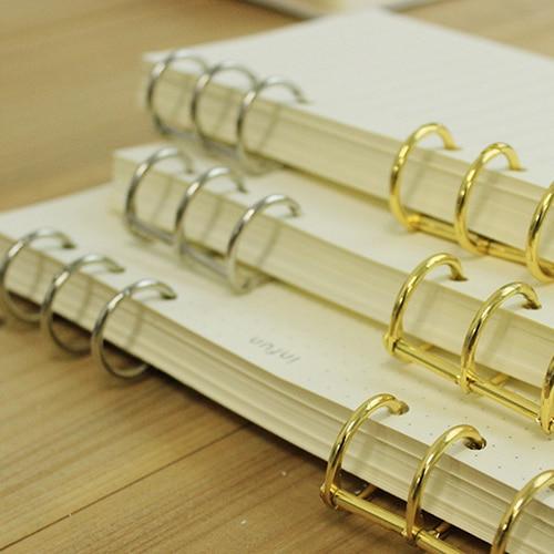 Gold Silver Loose-leaf Iron Split Hinged Rings Scrapbooking Binder Album Calendar Practical Notebook Loose Leaf Binder 3-ring