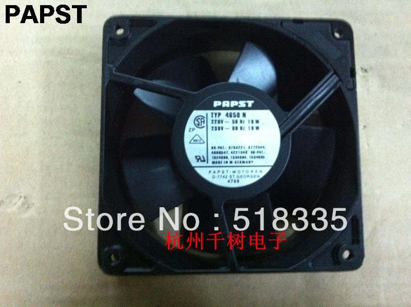 PAPST 4850N 4850N 220V 11W 12038 12CM cooling fan new original delta 12cm tha1248be 12038 48v 2 6a cooling fan