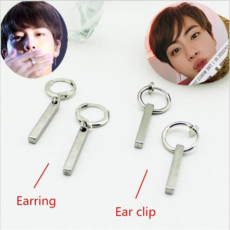 Youpop K-POP Album Korean BTS JIMIN JIN Bangtan Boys Ear Stud Earrings Kpop Jewelry Accessories For Mens And Womens