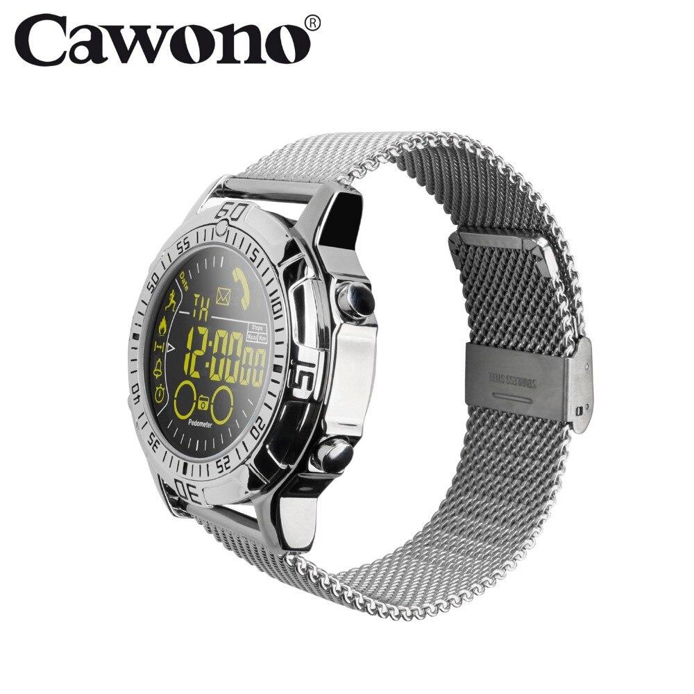 Cawono CN4 Bluetooth Pedometer Fitness Tracker Smart Watch wristwatch for Men Android Measurement Elevation Smart Watch VS EX18