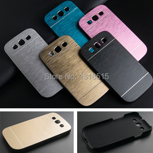 Luxury Brushed Metal Aluminium + PC material case For Samsung Galaxy S3 i9300 phone case cover