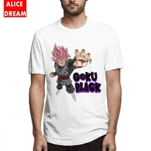 For Man Dragon ball Black Goku T Shirt Stylish Homme Tee Pure Cotton S-6XL Big Size Cartoon New Arrival