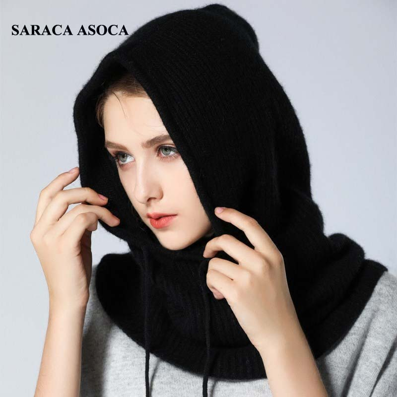 Fashion Hooded Black Fake Collar For Girls All Match Drawstring Sweater White Detachable Collars Women