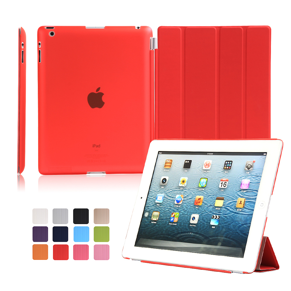 Tablet Case For Ipad 2/3/4 Cover Pu Leather Smart Case For Ipad 4 3 2 Ultra Thin Auto Sleep /wake Shell Hot Sale