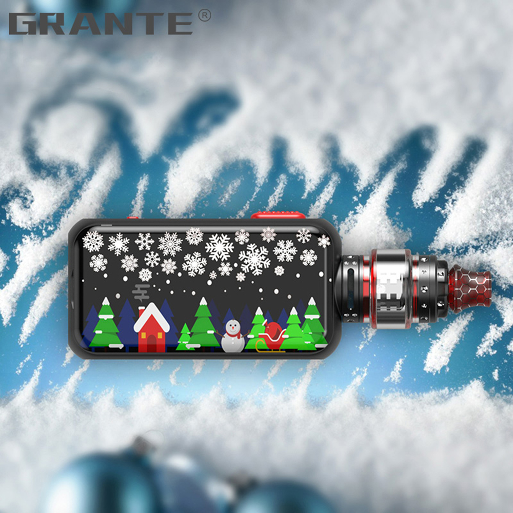 Grante Vape Box Mod Kit 3.5ml Top Filling Atomizer With 0.5 ohm Coil Without 18650 Battery Vape Mod Vaporizer VS SMOK X-Priv Kit4