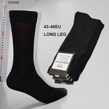 Fcare 8 шт. = 4 пары 43,44, 45,46 длинные ноги бизнес Носки calcetines мужчины хлопок экипажа свадебное платье Черное Носки calcetas hombre