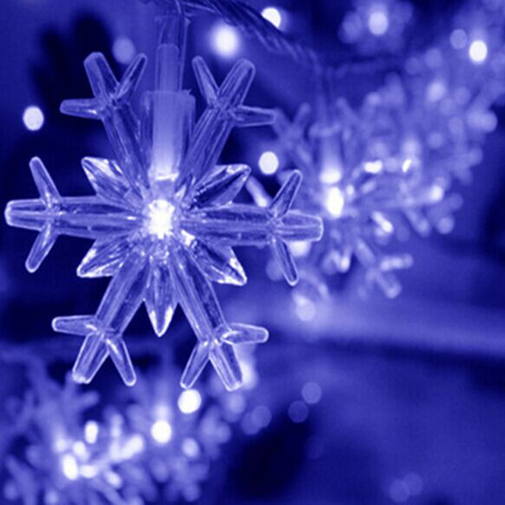 Holiday Battery Snowflake LED Strings Fairy Lights Party Decoration 30LED String Light Strings Christmas LED Lights