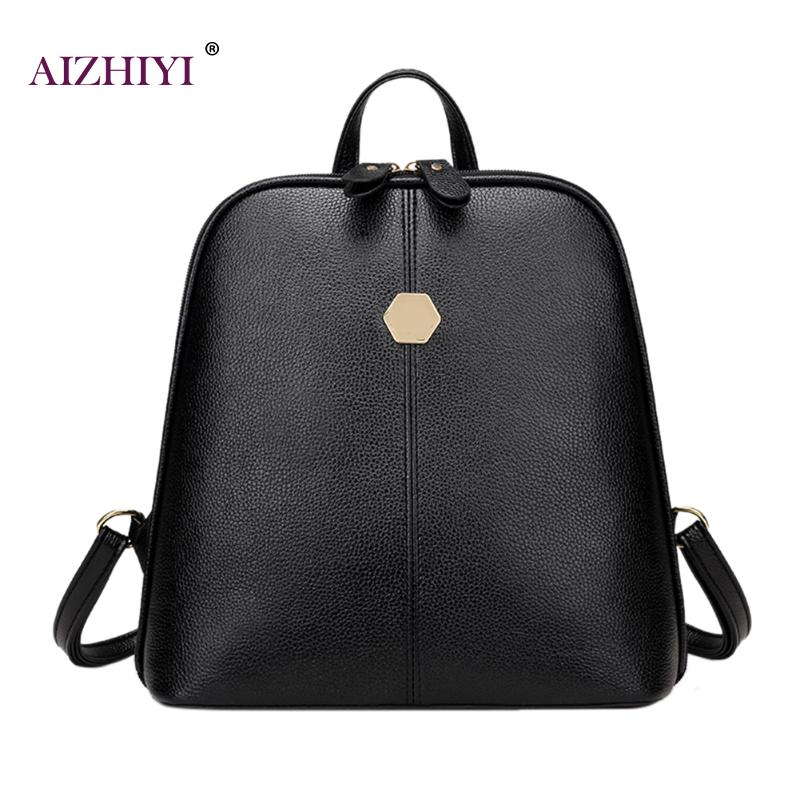 Mochila Escolar Small Women Backpacks Rivet Zipper PU Leather Student Backpack Preppy Fashion Bag Girls Women's Backpack Female toposhine small rivet women backpacks fashion pu leather women shoulder bag rivet small ladies backpack girls school bags 1751