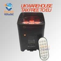 4X LOT APP Mobile 6*18 W 6in1 RGABW UV Battery Operated WIFI LED UPLIGHT Fredoom HA CONDOTTO LA Luce Par 6/10CH UK MAGAZZINO TASSA di TRASPORTO