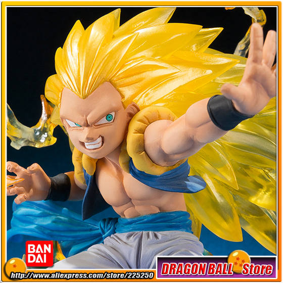 Japan Anime Dragon Ball Z Kai (100% Original BANDAI) Tamashii Nations Figuarts Zero Toys Figures - Gotenks Super Saiyan 3 japan anime dragon ball z 100% original bandai tamashii nations figuarts zero ex completely figure super saiyan trunks
