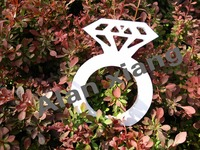 Wedding Decoration Whte Big Size Diamond Ring Props Three Dimensional Letter