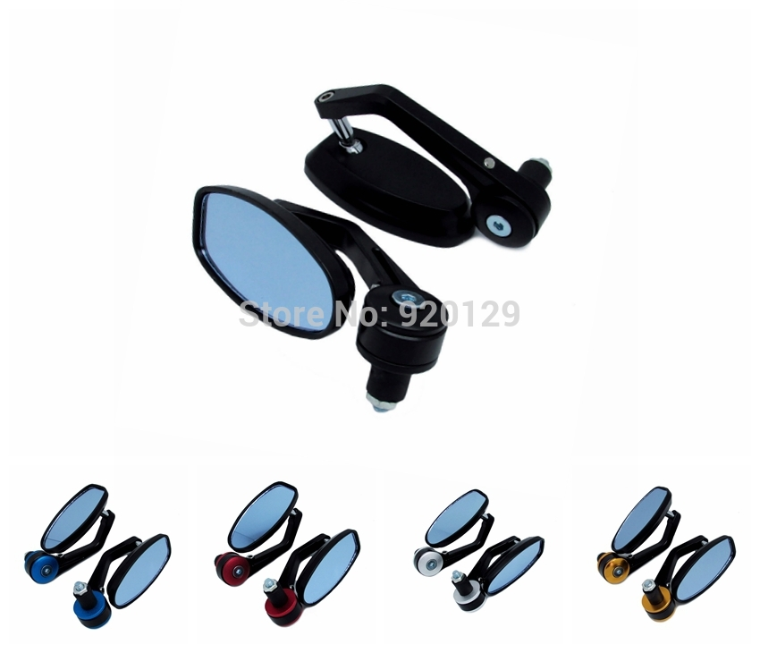 black universal Motorcycle Bar End rearview Mirrors 7/8 For Offroad suvs ATV KTM