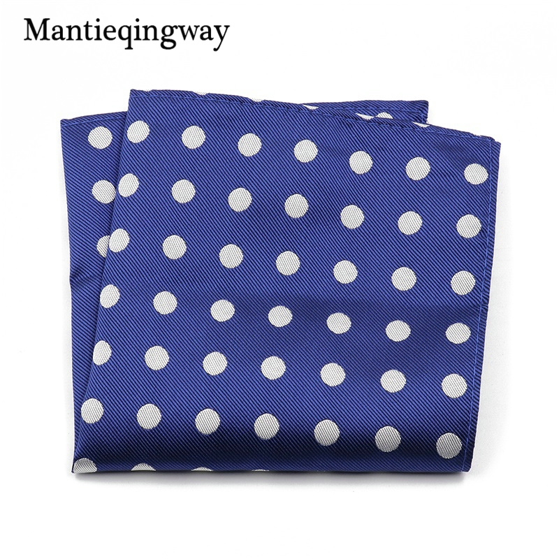 Mantieqingway Dots Pattern Handkerchief For Men Suit Polyester 25*25cm Pocket Square Chest Towel Business Pocket Towel Hankies