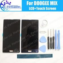 DOOGEE MIX LCD Display + Touch Screen 100% Original LCD Digitizer Glasscheibe Ersatz Für DOOGEE MIX + Werkzeuge