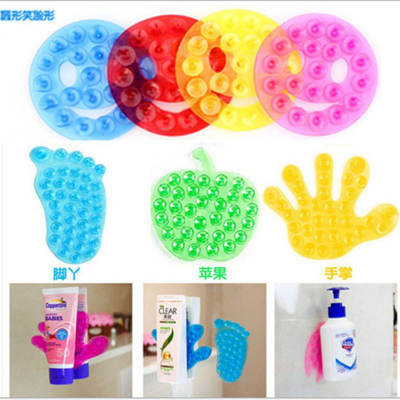 4PCS Strong Double Sided Suction Palm PVC Suction Cup Magic Plastic Sucker Kid Bathroom Toys