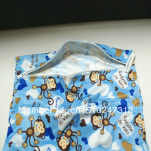 free shipping  2013 hot double pocket nappy wet/dry bag reusable nappy bag