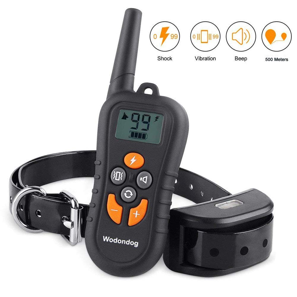 Wodondog Dog Training Collar Electric Shock Collar For Dogs Waterproof Remote  Rechargeable Bark With Behavior Training CollarsWodondog Dog Training Collar Electric Shock Collar For Dogs Waterproof Remote  Rechargeable Bark With Behavior Training Collars