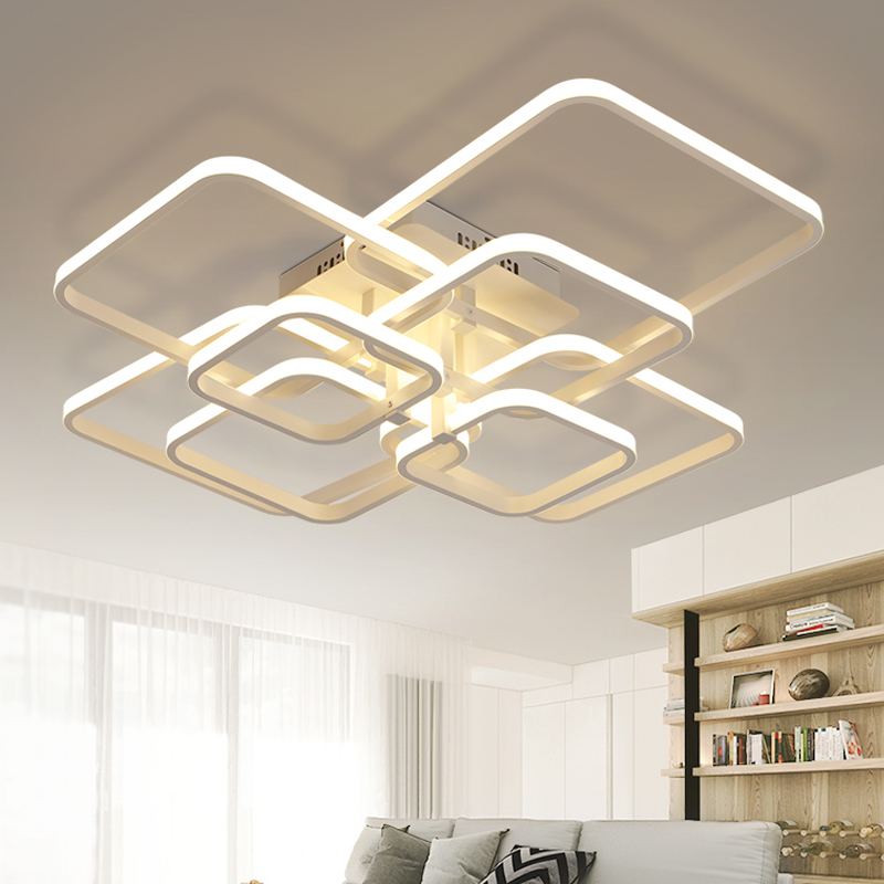 Modern Led Chandelier With Remote Control Ceiling Chandeliers Living Room Bedroom Home Nordic Lustre Light Fixtures Deco Salon