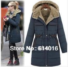New Europe Women 's Cotton Coats Winter Warm Thick Long Coat Jackets Fashion vintage plus Size Clothing S-XXXL Free Shipping