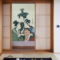 Japanese Style Cretive Partition Curtain Cloth Door Hanging Curtain Japanese Maid Door Curtain